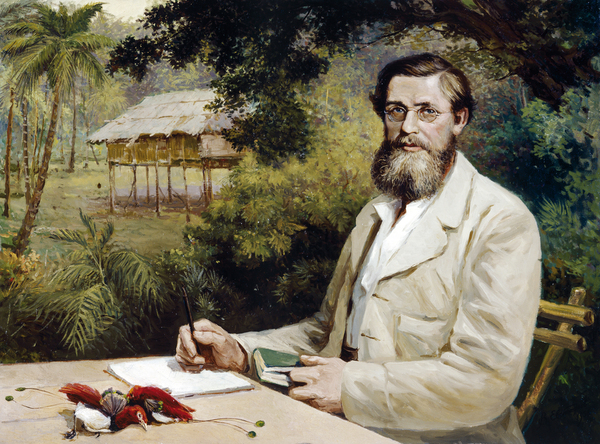 Naturalist and collector Alfred Russel Wallace arrives in Kuching
